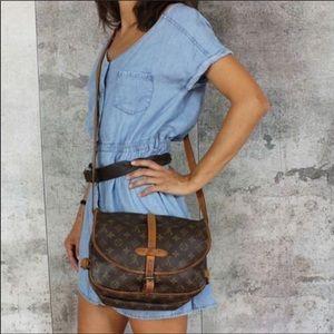 """LV GM bag Saumur 35 Shoulder Bag 13""""L x 11""""W x 9""""H"""